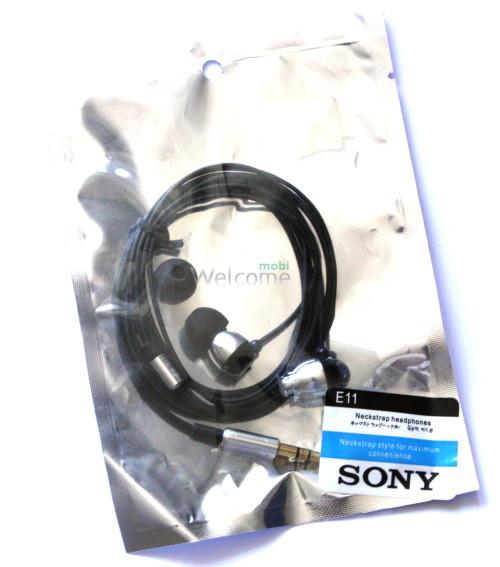 Навушники вакуумні метал Sony EX-11 silver
