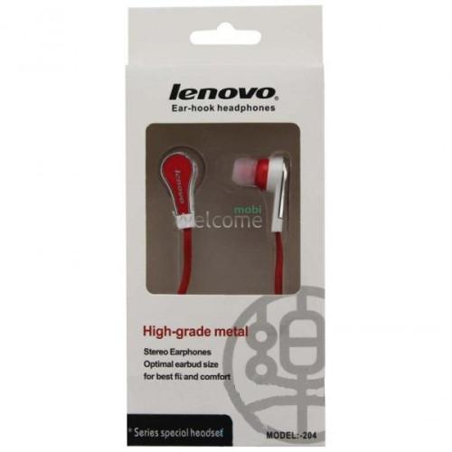 Навушники вакуумні Lenovo 204 red