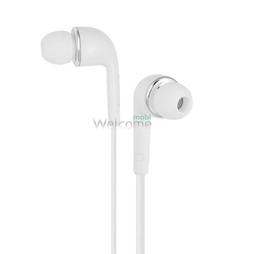 Навушники вакуумні Lenovo original white+mic (гарнітура)