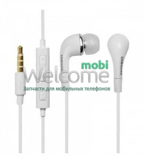 Навушники вакуумні Samsung original white+mic (гарнітура)