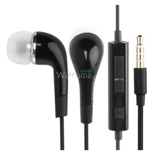 Навушники вакуумні Samsung original black+mic (гарнітура)