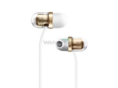 Навушники вакуумні метал Xiaomi MI Piston AIR gold+mic(гарнітура)