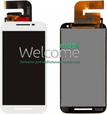 Дисплей Motorola XT1540 Moto G3/XT1541/XT1544/XT1548/XT1550 в зборі з сенсором white orig