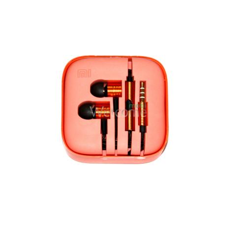 Навушники вакуумні метал Xiaomi MI ORIGINAL orange + mic (гарнітура)