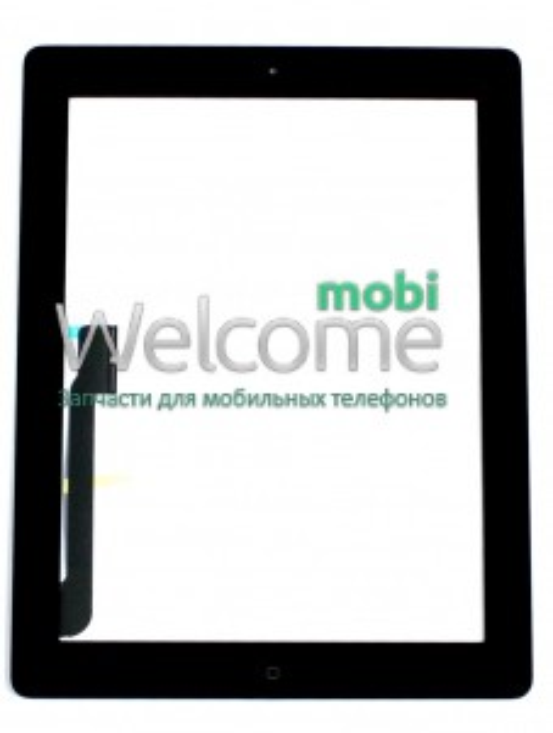 iPad3/iPad4 touchscreen+home button+flex black orig