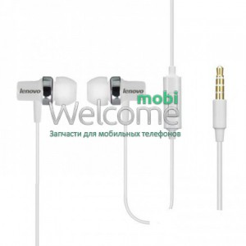 Навушники вакуумні Lenovo 204 white