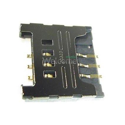 Конектор sim Samsung C3322/C3752/S3850/S5300/S5360/S5380/S5570/S5610/S6500