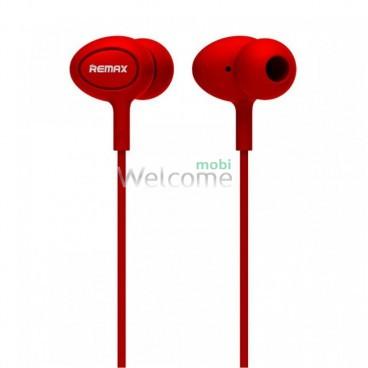 Навушники вакуумні Remax 515 гарнітура red
