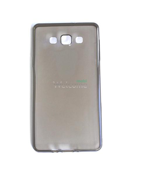 Чохол Remax Ultrathin Samsung A700 силікон прозорий black 0.2mm