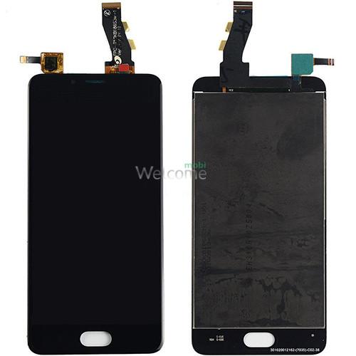 Дисплей Meizu U10 (U680H) в зборі з сенсором black orig