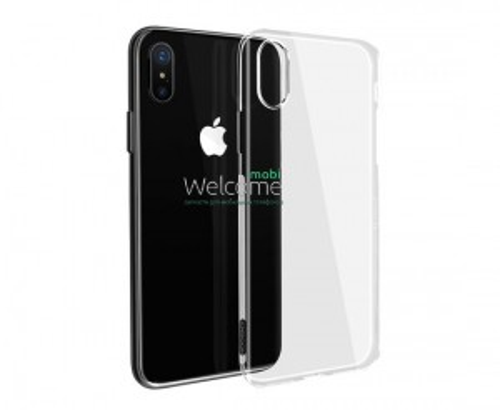 Чохол Ultrathin iPhone X/iPhone XS силікон прозорий white 0.2mm