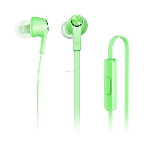 Навушники вакуумные метал Xiaomi MI5 green+mic (гарнитура)