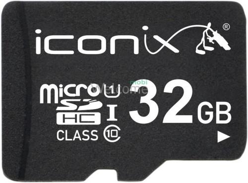 Карта памяти ICONIX MicroSDHC 32 ГБ 10 класс с переходником