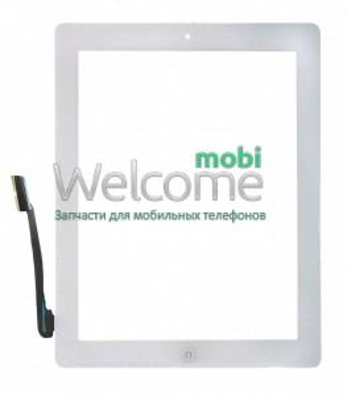 iPad3/iPad4 touchscreen+home button+flex white high copy