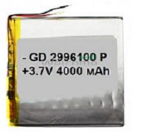 АКБ для планшета 2.9*96*100мм (3800 mAh)