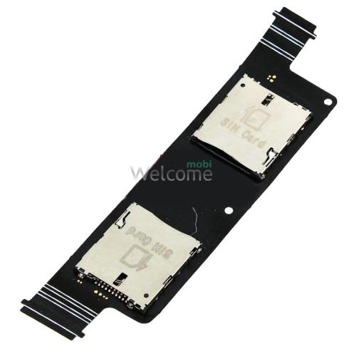 Коннектор sim Asus ZenFone 4 (2 sim)