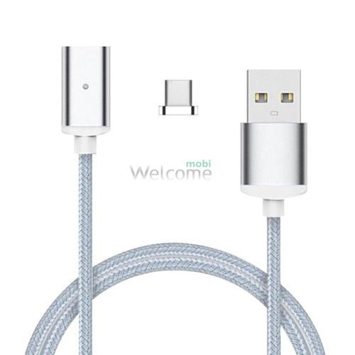 USB кабель магнітний метал 2.0 AF micro, 1м