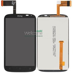 Дисплей HTC T328e Desire X в зборі з сенсором black orig