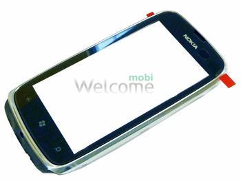 Сенсор Nokia 610 Lumia black with frame orig