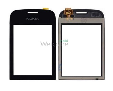 Сенсор Nokia 202/200 Asha black high copy