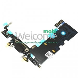 iPhone8 charge connector with microphone and components black