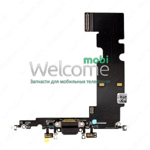 iPhone8 Plus charge connector with microphone and components black