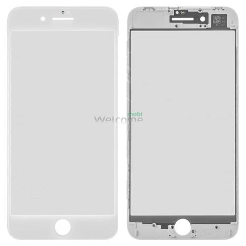 iPhone8 Plus glass + OCA Film with frame white