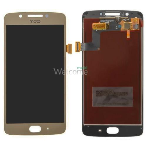 Дисплей Motorola XT1670 Moto G5/XT1672/XT1675/XT1676 в зборі з сенсором gold