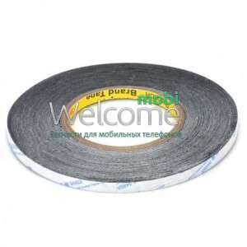 Двосторонній скотч (чорний) 50 метрів 0,3 см