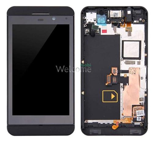 Дисплей для BlackBerry Z10 pictures + frame black orig