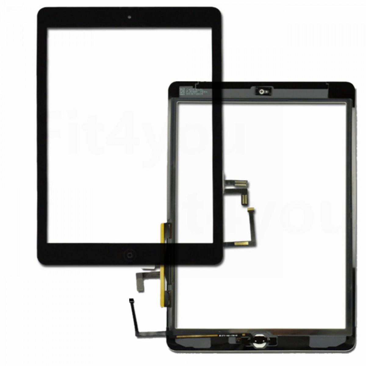iPad 2017 touchscreen+home button+flex black high copy