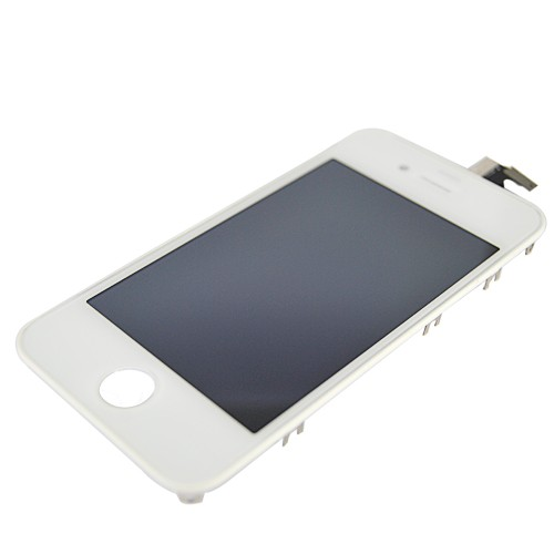 iPhone4S LCD with touchscreen and frame white  (TEST)