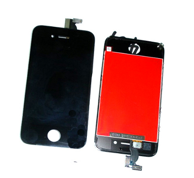 iPhone4S LCD with touchscreen and frame black  (TEST)