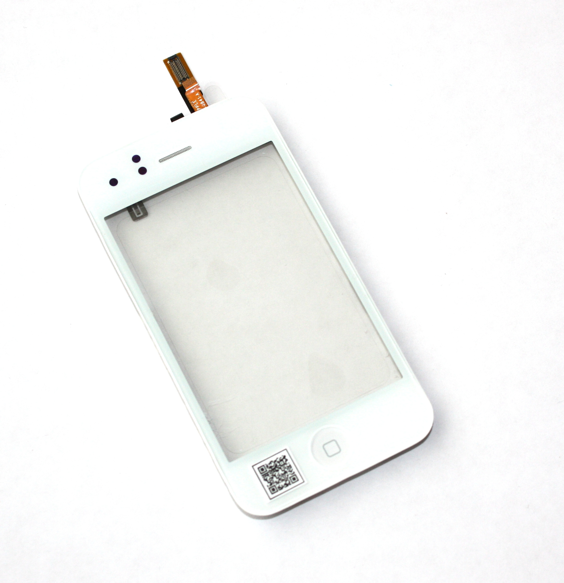 iPhone3G touchscreen white with frame+home+speaker+sensor flex