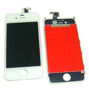 iPhone4S LCD with touchscreen and frame white high copy (TEST)