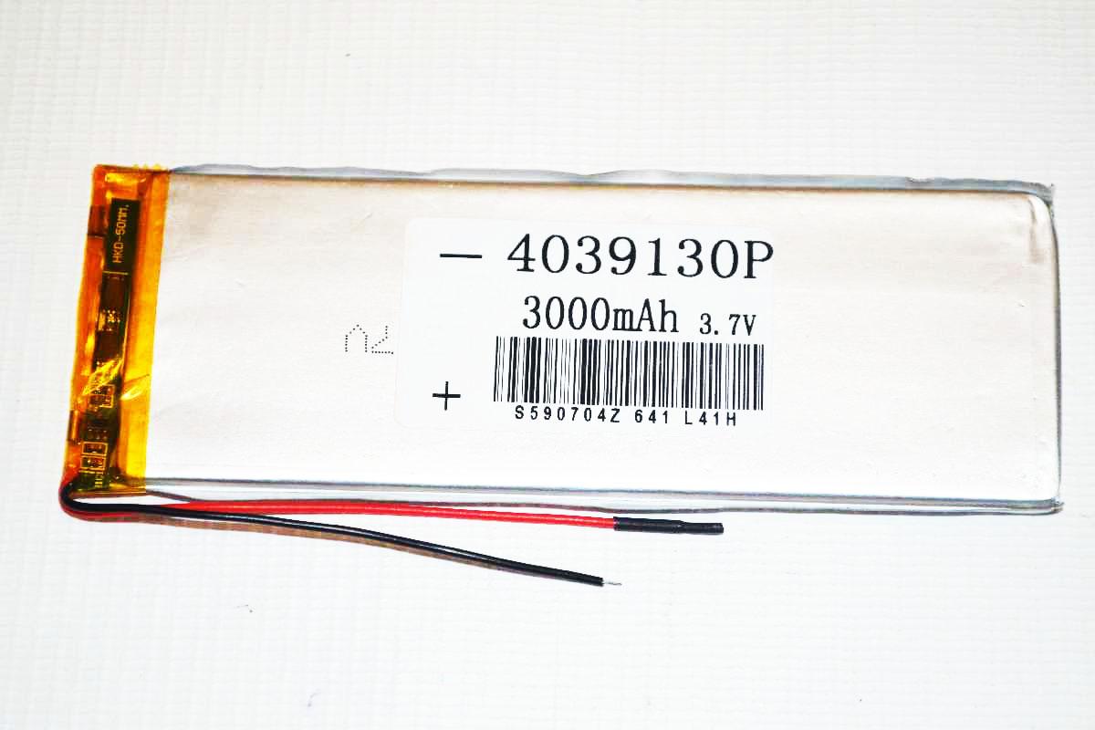 АКБ для планшета 4.0*39*130мм (3000 mAh)